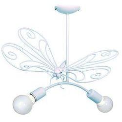 Lampa wisząca dziecięca Motyl 2xE27/60W niebieska (5907565954937)
