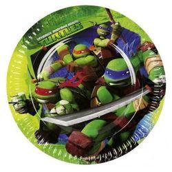 Talerzyki urodzinowe Wojownicze Żółwie Ninja - 23 cm - 8 szt. (4009775468646)