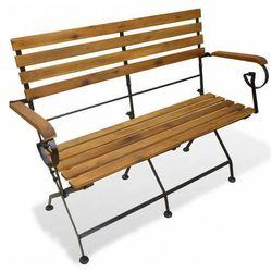 Drewniana ławka ogrodowa nomas - brązowa marki Edinos premium