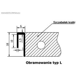 Verano Obramowanie typ l do vk15 - 25/130 , aluminium anodowane