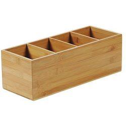 Kesper Pudełko na sztućce z włókna bambusowego, pojemnik na sztućce, pojemnik bambusowy, organizer kuchen