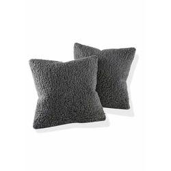 Bonprix Narzuta na sofę z materiału z żywej wełny antracytowy