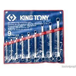 ZESTAW KLUCZY OCZKOWYCH ODGIĘTYCH 45° 9cz. 8 - 26mm King Tony 1609MR