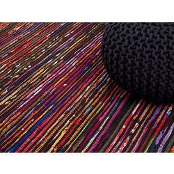 Beliani Dywan - wielokolorowo-czarny - 160x230 cm - bawełna - handmade - bartin (7081458660698)