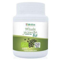 Młody jęczmień BIO 250 tabletek (Myvita), postać leku: tabletki