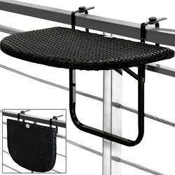 STÓŁ STOLIK BALKONOWY PODWIESZANY SKŁADANY RATTAN - produkt z kategorii- Krzesła ogrodowe