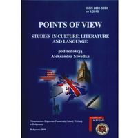 Points of View 1/2010. Studies in Culture, Literature and Language (ISBN 9788389914262)