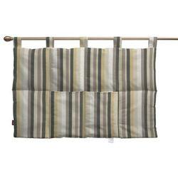 wezgłowie na szelkach, pasy brązowo-beżowe, 90 x 67 cm, norge marki Dekoria