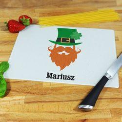 Mygiftdna Leprechaun on - deska do krojenia - deska średnia 25 na 20 cm