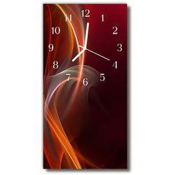 Zegar Szklany Pionowy Sztuka Abstrakcja pomarańczowy, kolor pomarańczowy