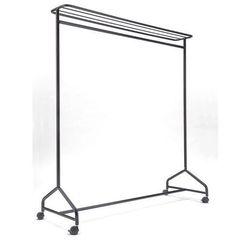 Szeregowy stojak na garderobę, wys. x szer. x głęb. 1750x1490x560 mm, czarna. ze marki Unbekannt