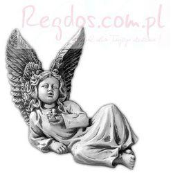 Figura ogrodowa betonowa leżący aniołek 27cm