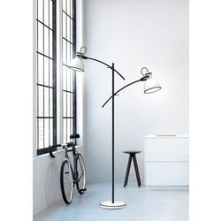 Candellux Zumba 52-72672 lampa podłogowa stojąca 2x40W E14 biały / czarny, kolor Biały