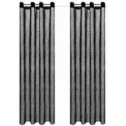 Haftowane, przezierne zasłony, 2 szt., 140 x 245 cm, czarne marki Vidaxl