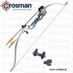 Crosman Łuk klasyczny  augusta ary2026 - zestaw kołczan, 2 strzały, ochraniacz na przedramię, skórka