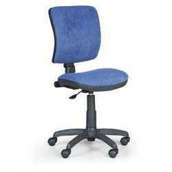 Biurowe krzesło milano ii bez podłokietników - niebieske marki B2b partner