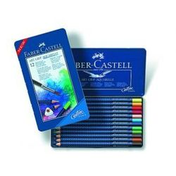 Kredki akwarelowe FABER-CASTELL Art Grip - 12 kolorów z kategorii Kredki akwarelowe