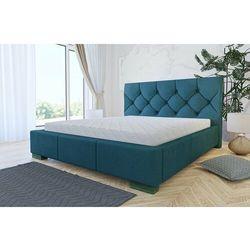 """Łóżko """"RIST"""" 160/200 stelaż, pojemnik - turkusowy, kolor niebieski"""