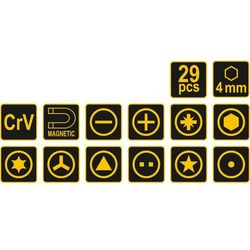Zestaw wkrętaków 64401 (29 elementów) marki Vorel