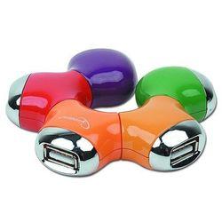 HUB USB Gembird W kształcie stokrotki 4 porty USB 2.0 + mini USB (UHB-CT07) Darmowy odbiór w 20 miastach