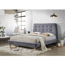 Łóżko dona velvet 160x200 kolor szary /dąb tap. 78 marki Signal meble