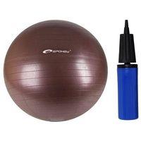Piłka Gimnastyczna + Pompka SPOKEY 55 cm - Brązowy - Brązowy