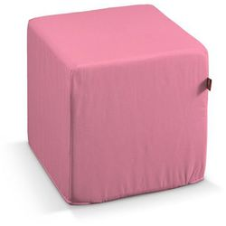 Dekoria Pokrowiec na pufę kostke, różowy z połyskiem, kostka 40x40x40 cm, Milano