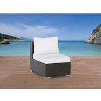 Pojedyńczy rattanowy fotel bez podłokietników z poduchami - GRANDE