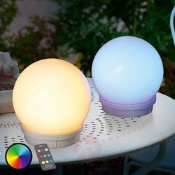 Esotec Solarne lampy kuliste 15 multicolor zestaw 2 szt.