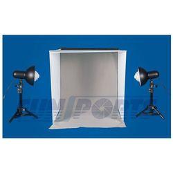 Funsports Zestaw bezcieniowy-namiot, teczka 50cm, lampy na statywach ze świetlówkami - produkt dostępny w Cyfrowe.pl
