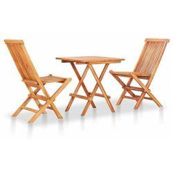 Zestaw drewnianych mebli ogrodowych - trivo 2x marki Elior