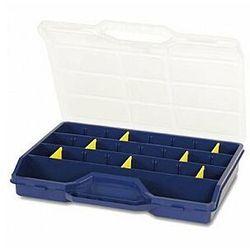 TAYG - Organizer na końcówki, elektronikę, śrubki itp. - 312 x 238 x 51 mm - 21 wyjmowanych przegródek