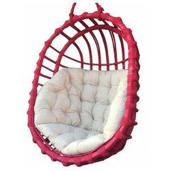 Producent: elior Różowy wiszący fotel jajo z wikliny - petro 3x