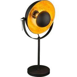 Stojąca lampka biurkowa xirena 58286t industrialna lampa nocna antenne satelite laki loft czarna marki Globo