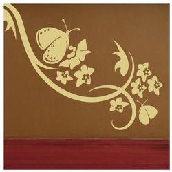 szablon malarski kwiaty motyl 0905
