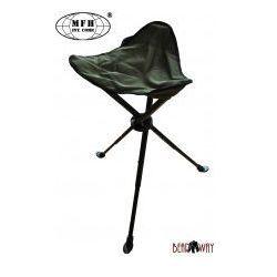 Stalowe składane krzesełko wędkarskie / campingowe mfh marki Mfh - max fuchs