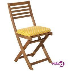 Beliani Zestaw 2 poduch na krzesło FIJI żółty wzór 29 x 38 x 5 cm (4251682212526)