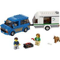 Lego CITY Wóz z przyczepą kempingową (van & caravan) 60117
