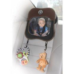 Samochodowe lusterko z zaczepem na zabawki brązowe