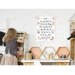 obrazek, plakat do pokoju dziecka, alfabet zwierzątka