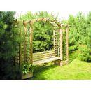 Pergola drewniana z kratką 2100 x 3500 x 720 marki Ogrodosfera.pl