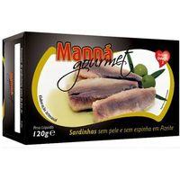 Manná gourmet Sardynki portugalskie bez skóry i ości w oliwie 120g  (5601721110266)