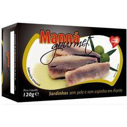 Sardynki portugalskie bez skóry i ości w oliwie 120g Manná GOURMET - produkt z kategorii- Konserwy i przetw