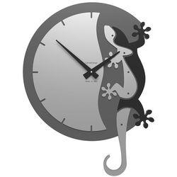 Zegar ścienny Geko Climbing CalleaDesign czarny, kolor czarny