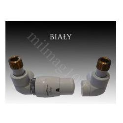 Zestaw zaworów grzejnikowych termostatycznych LUX lewy BIAŁY (zawór i głowica ogrzewania)