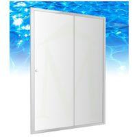 bronx - drzwi prysznicowe szklane, przesuwne 140 cm - s-2050 140 marki Omnires
