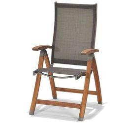 Krzesło składane z podłokietnikami Manhattan - produkt z kategorii- Krzesła ogrodowe