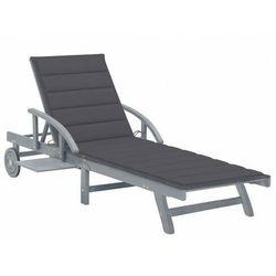 Elior Ciemnoszary leżak ogrodowy - solar