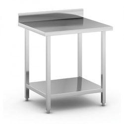 Stół roboczy ze stali nierdzewnej z półką, 800 x 700 x 850 mm