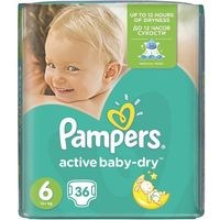 Procter & gamble Pieluchy pampers active baby-dry 6 extra large (36 sztuk)